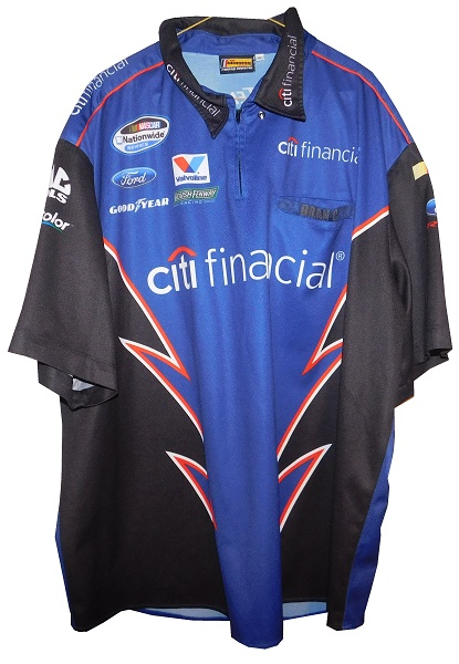 b6fac519 Ricky Stenhouse Jr. is a two-time Xfinity Series champion, and while with  Roush-Fenway Racing, he was sponsored by CitiFinancial, and this pit crew  shirt ...